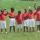 Daniel on far right, on orphanage soccer team (Yosef beside him)