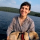 Canoeing in the Adirondacks with brave water dog