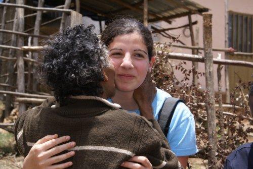 Tshai greets Lily, 2007