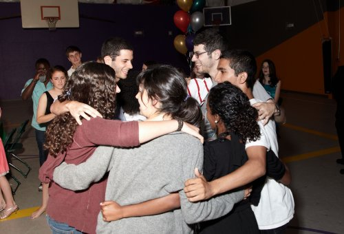 The nine dancing together at Yosef\'s Bar Mitzvah, May 2010